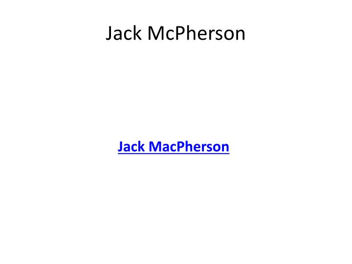 Jack McPherson