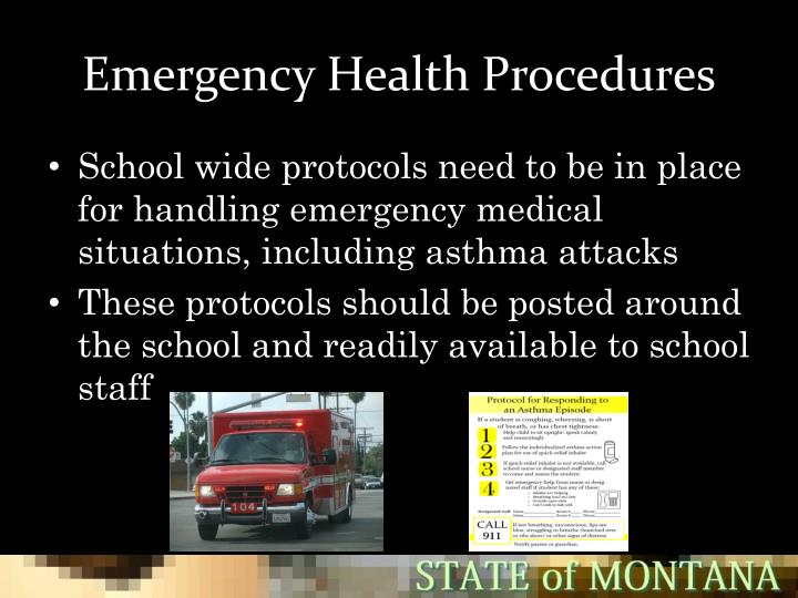 Emergency Health Procedures