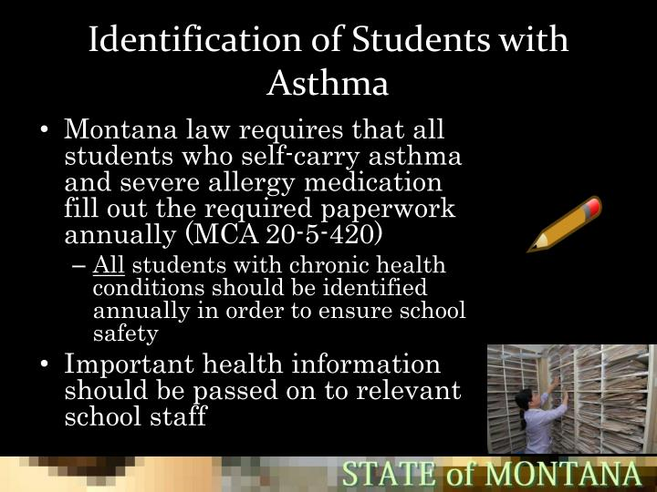 Identification of Students with Asthma