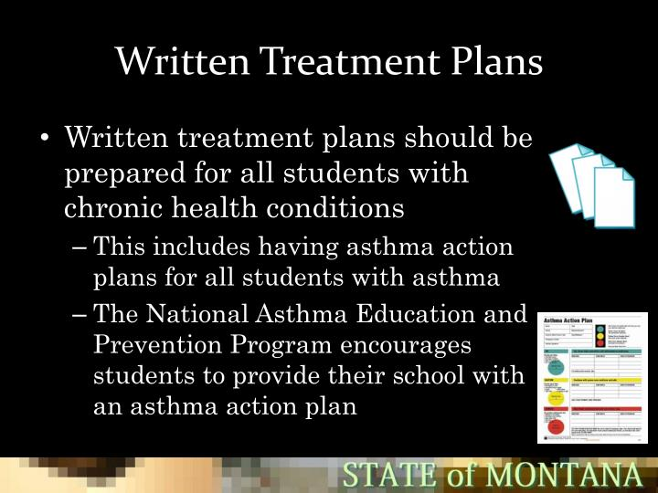 Written Treatment Plans