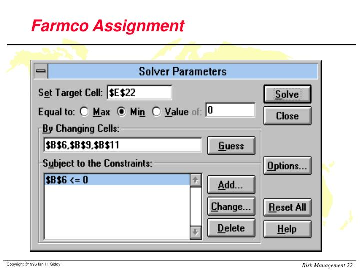 Farmco Assignment