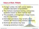value at risk pitfalls