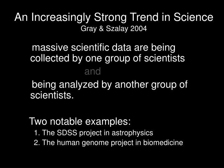 An increasingly strong trend in science gray szalay 2004