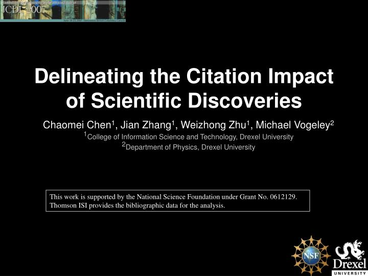 Delineating the citation impact of scientific discoveries