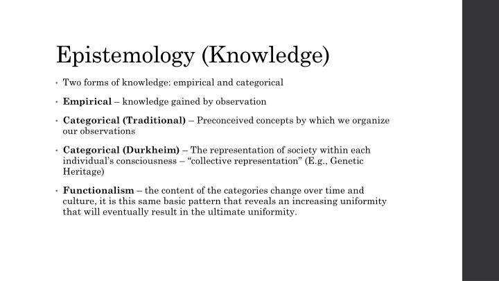 Epistemology (Knowledge)