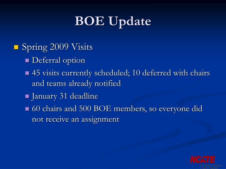BOE Update