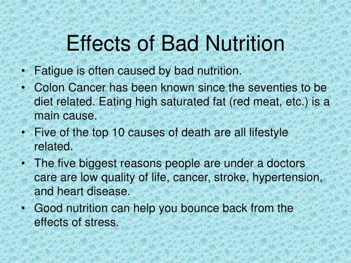 Effects of Bad Nutrition