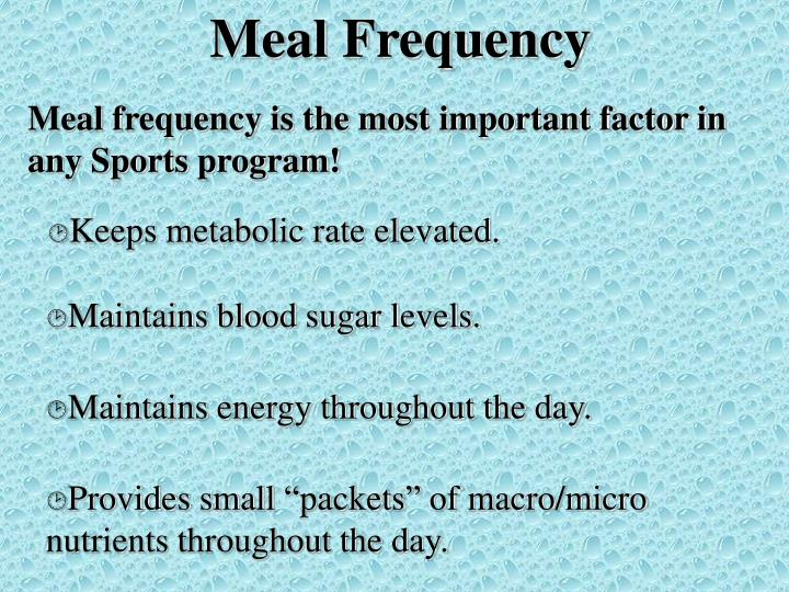Meal Frequency