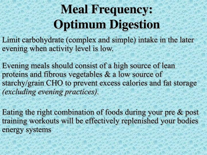 Meal Frequency: