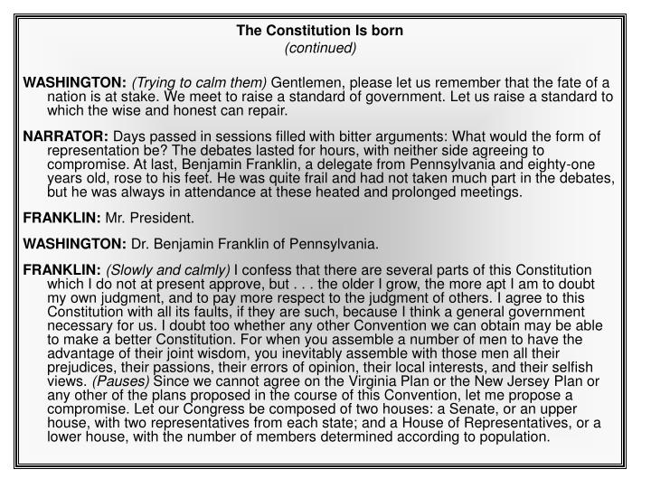 The Constitution Is born