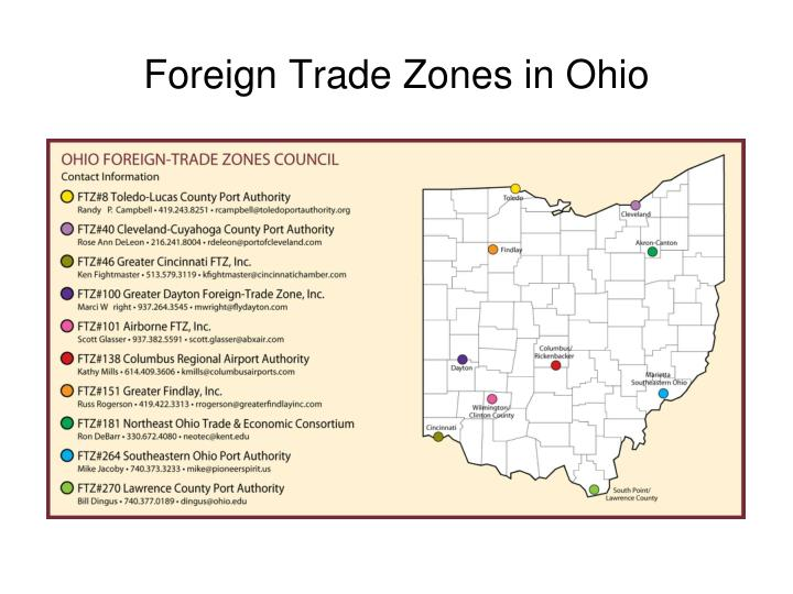 Foreign Trade Zones in Ohio