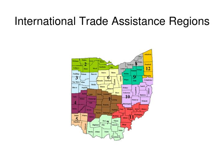 International Trade Assistance Regions