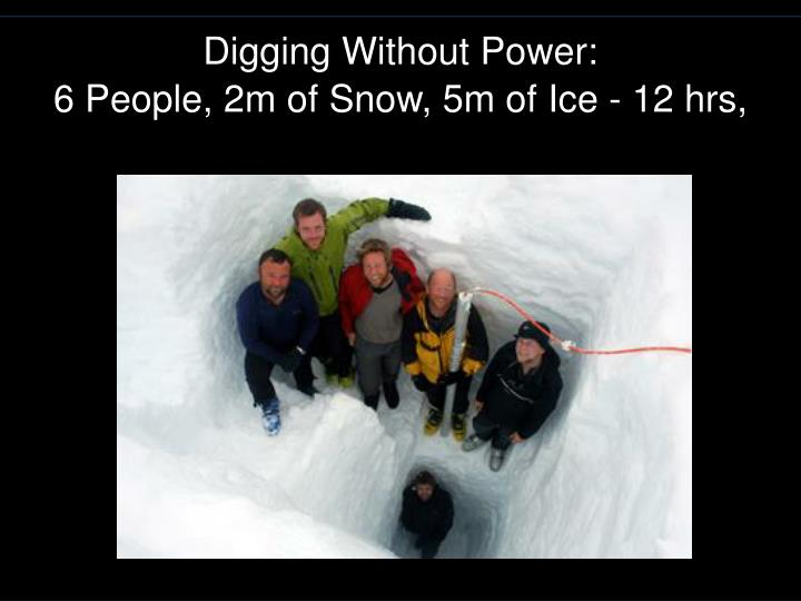 Digging Without Power: