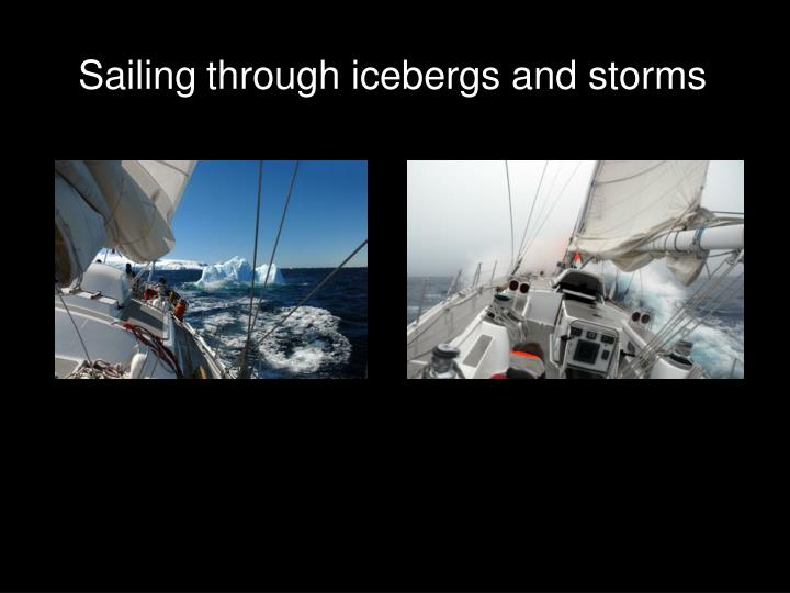 Sailing through icebergs and storms