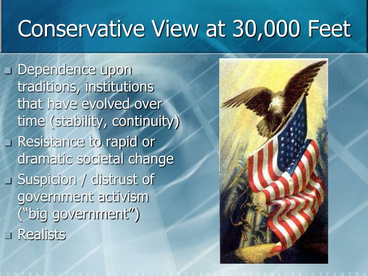 Conservative View at 30,000 Feet