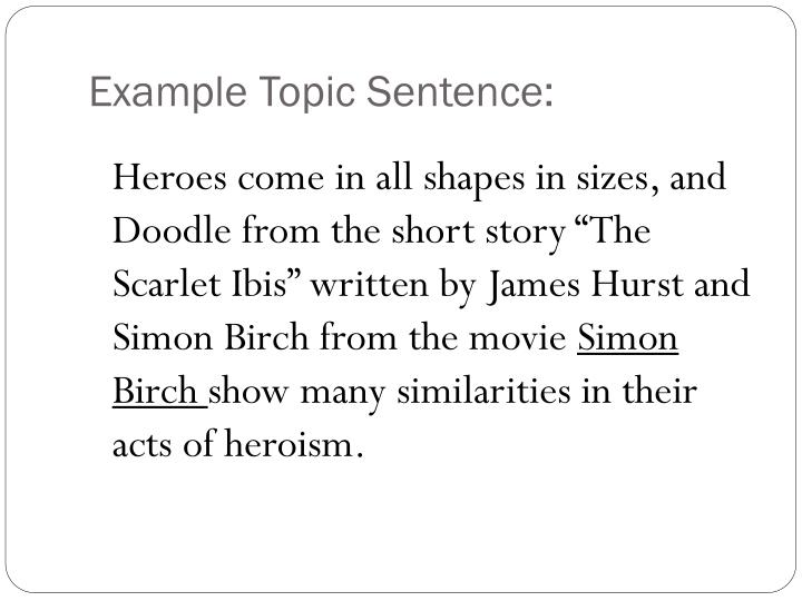 """simon birch scarlet ibis essay Check out our top free essays on pride essay scarlet ibis to help you although there are many similarities and differences simon birch and """"scarlet ibis."""