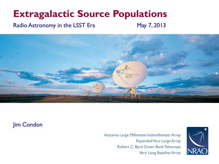 Extragalactic Source Populations