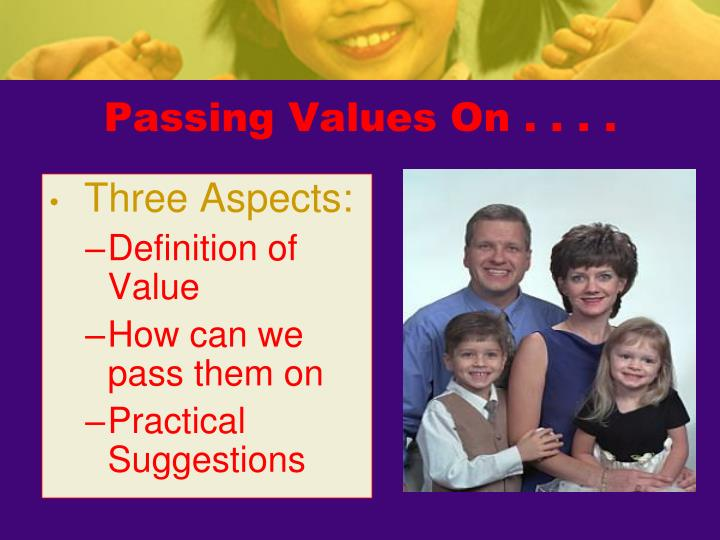 Passing Values On . . . .
