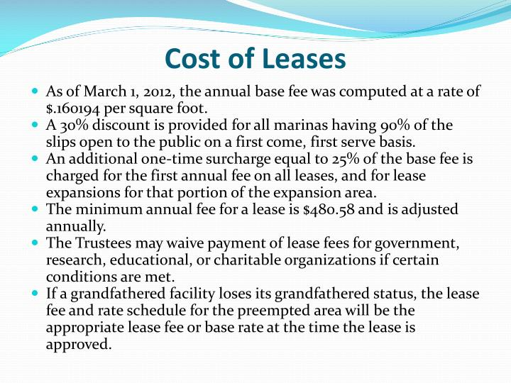 Cost of Leases