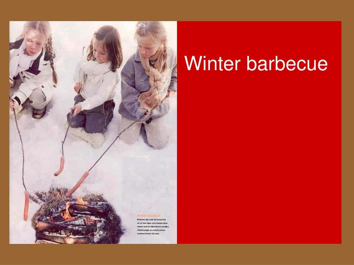 Winter barbecue