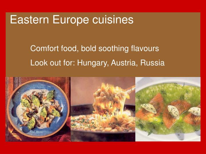 Eastern Europe cuisines