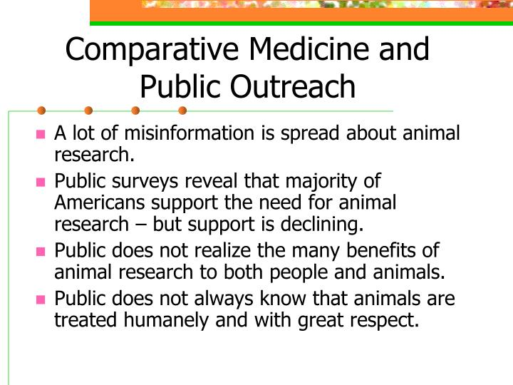 Comparative Medicine and Public Outreach