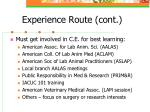 experience route cont