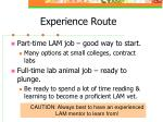 experience route