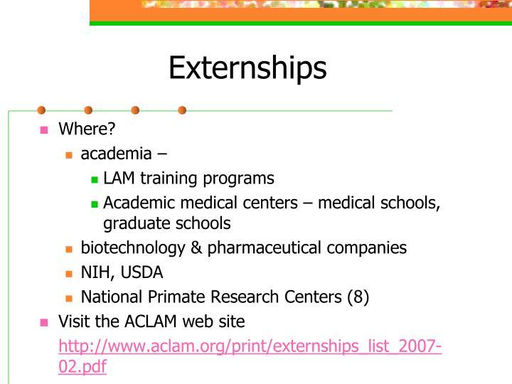 Externships
