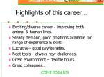 highlights of this career
