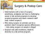 surgery postop care