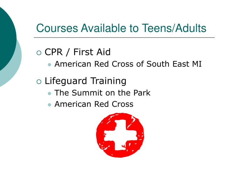 Courses Available to Teens/Adults