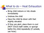 what to do heat exhaustion