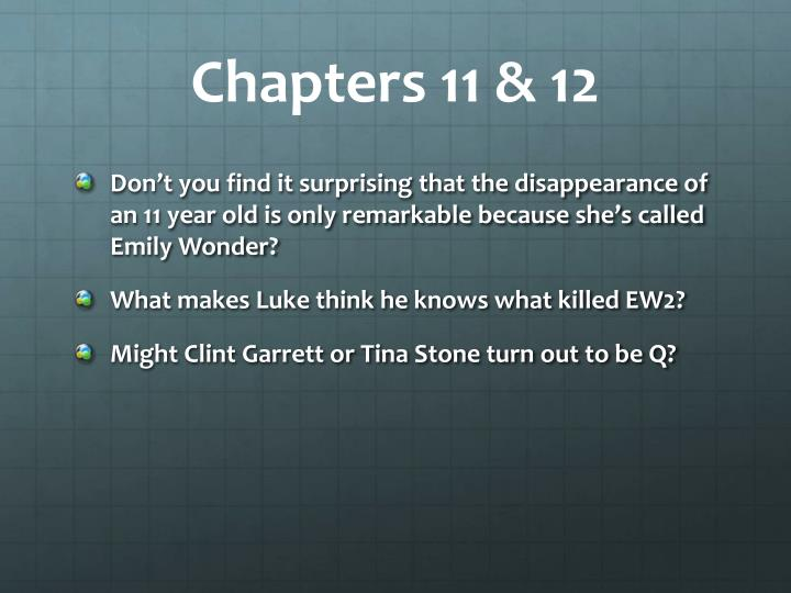 Chapters 11