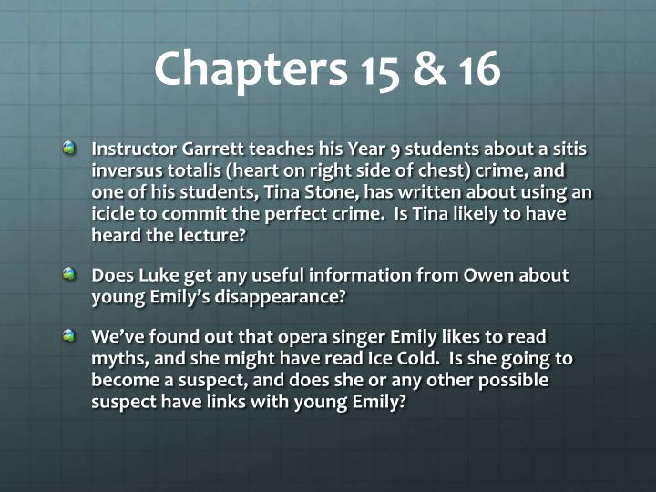 Chapters 15