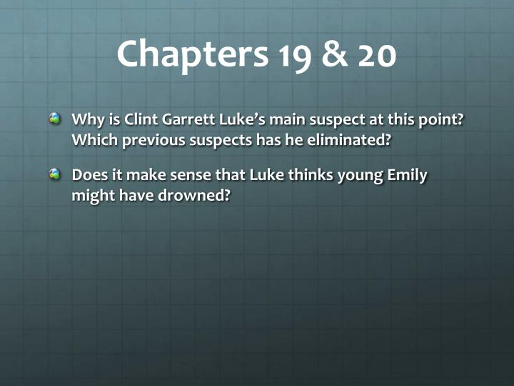 Chapters 19