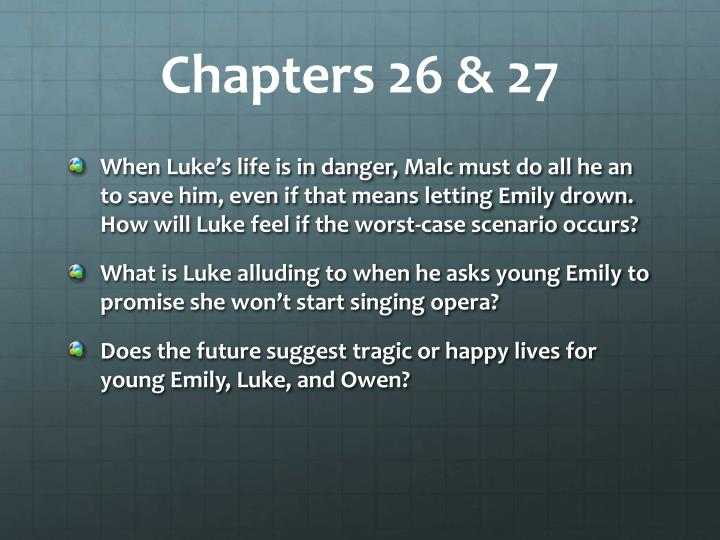Chapters 26 & 27