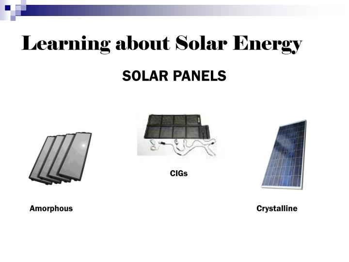 Learning about Solar Energy