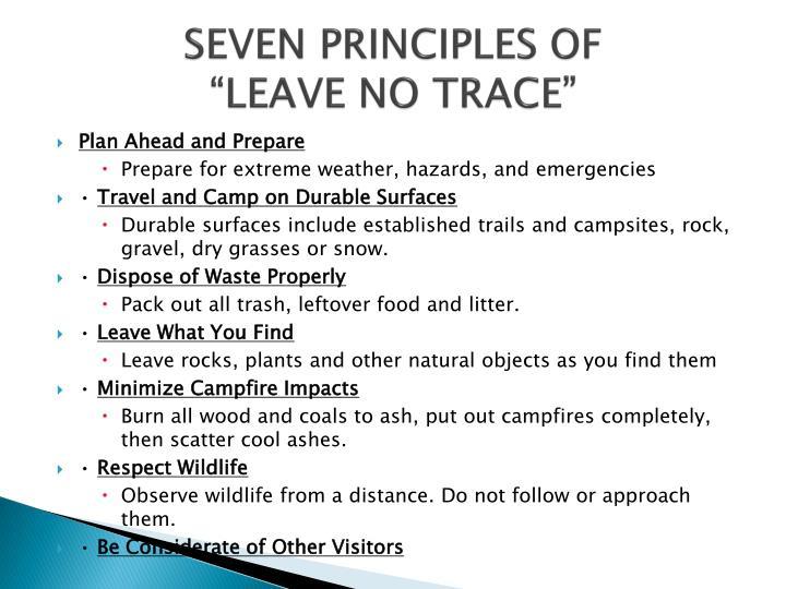 SEVEN PRINCIPLES OF