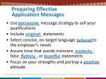 preparing effective application messages