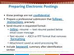 preparing electronic postings