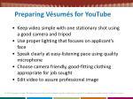 preparing v sum s for youtube
