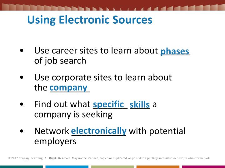 Using Electronic Sources
