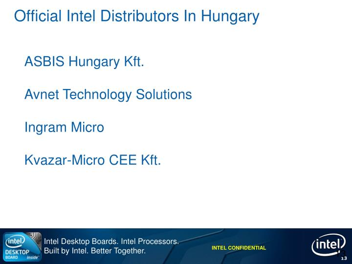 Official Intel Distributors In Hungary