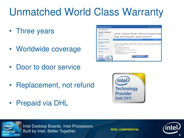 Unmatched World Class Warranty
