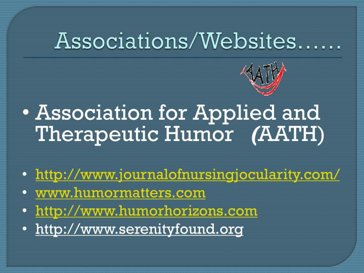 Associations/Websites……