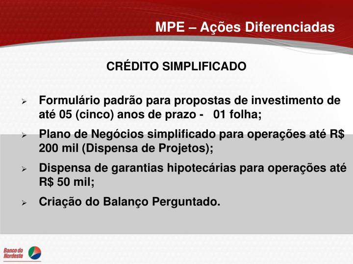 MPE – Ações Diferenciadas