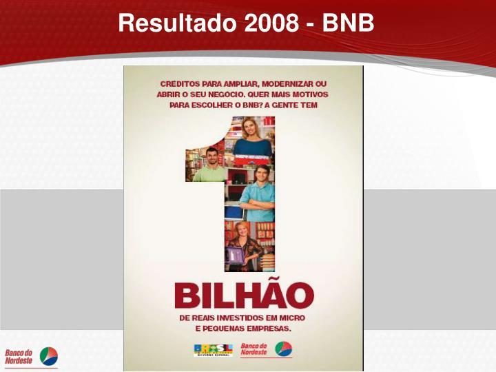 Resultado 2008 - BNB