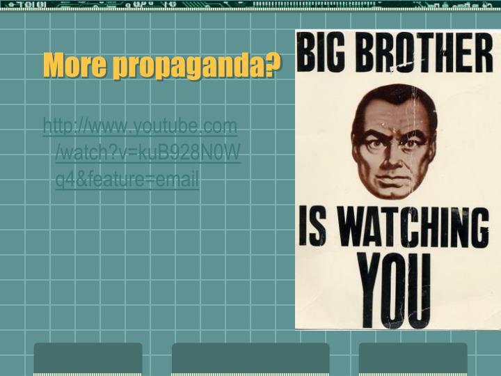 More propaganda?