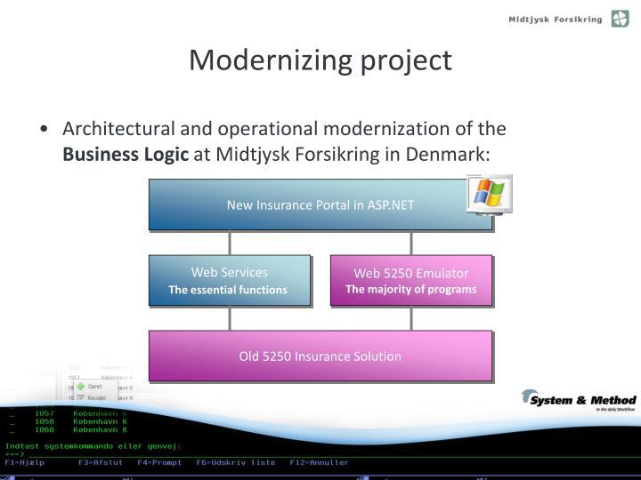 Modernizing project
